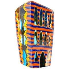 """American Contemporary Studio Glass """"Citysccape"""" Sculpture by, José Chardiet"""