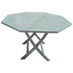 American Contemporary Teak Octagonal Folding Dining Table
