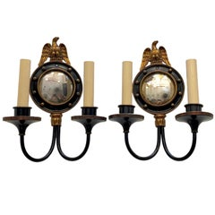 American Convex Mirror Sconces