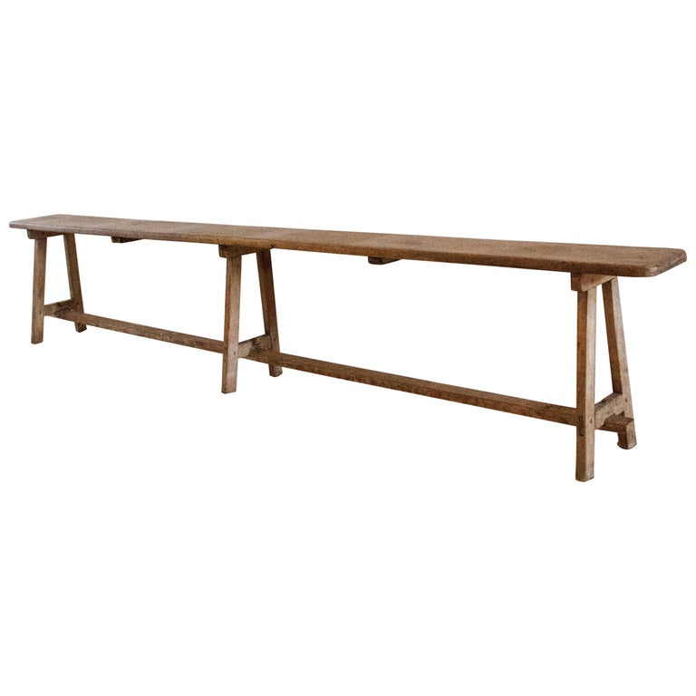 American Country Hepplewhite Bench For Sale