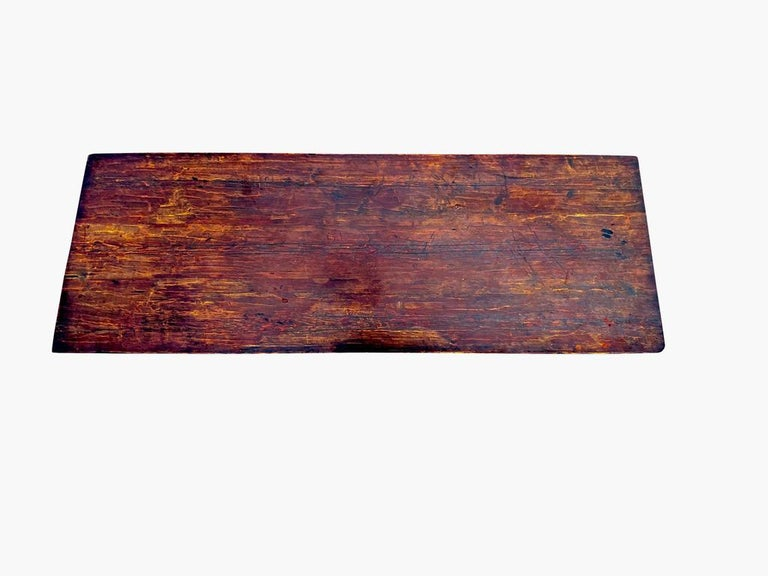 American Country Pine Trestle Table For Sale 1