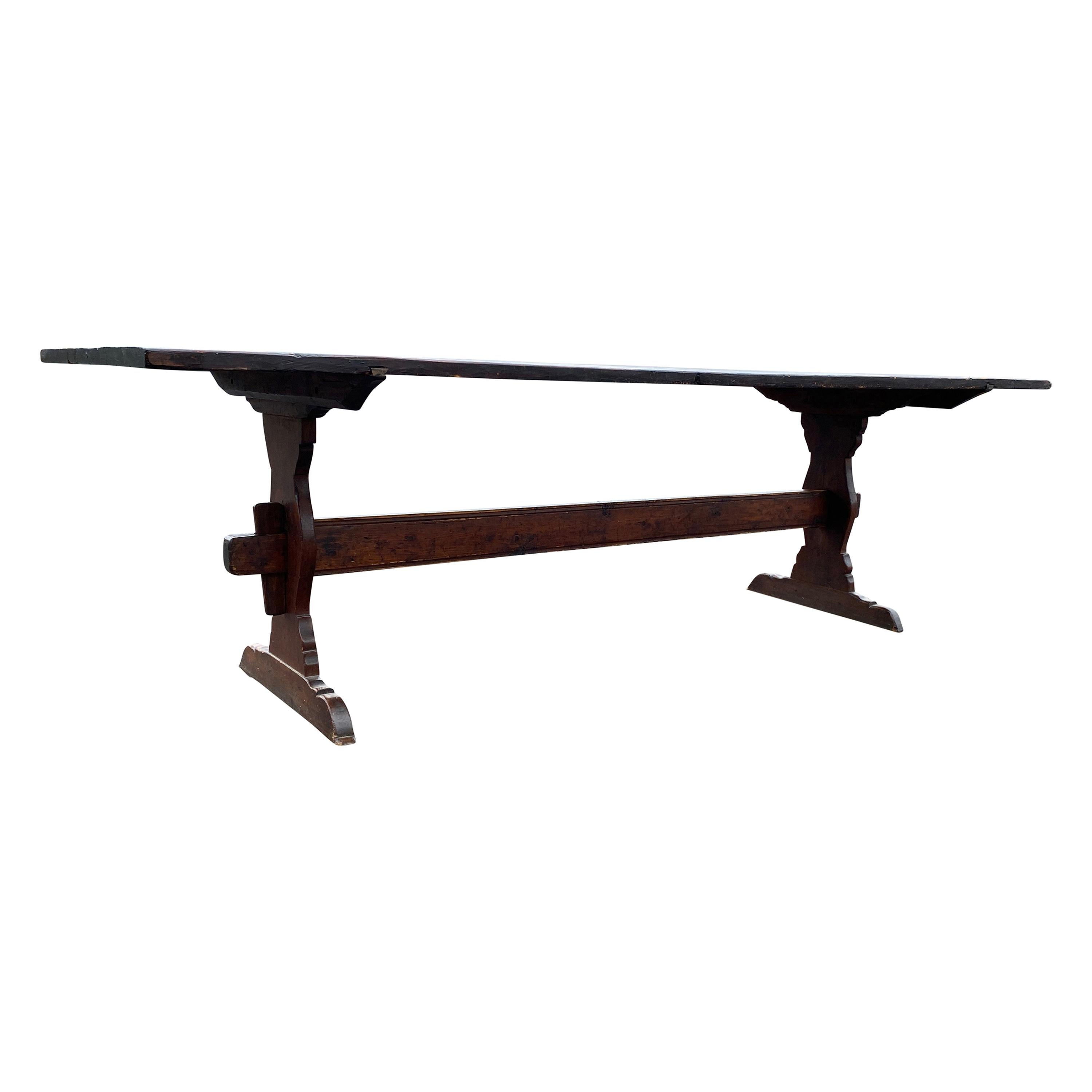 American Country Pine Trestle Table