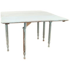 American Country Rustic Style Drop-Leaf Dining Table