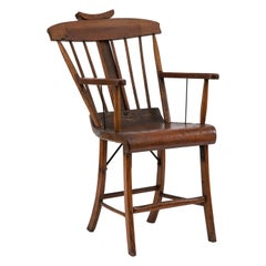American Country Stained Pine Armchair