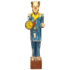 American Country Style 'Mid-20th Century' Carved Lifesize Wood Figure