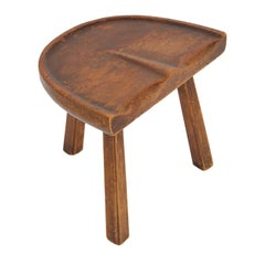 American Craft Movement 3-Legged Milking Stool in the Style of Arthur Cunningham