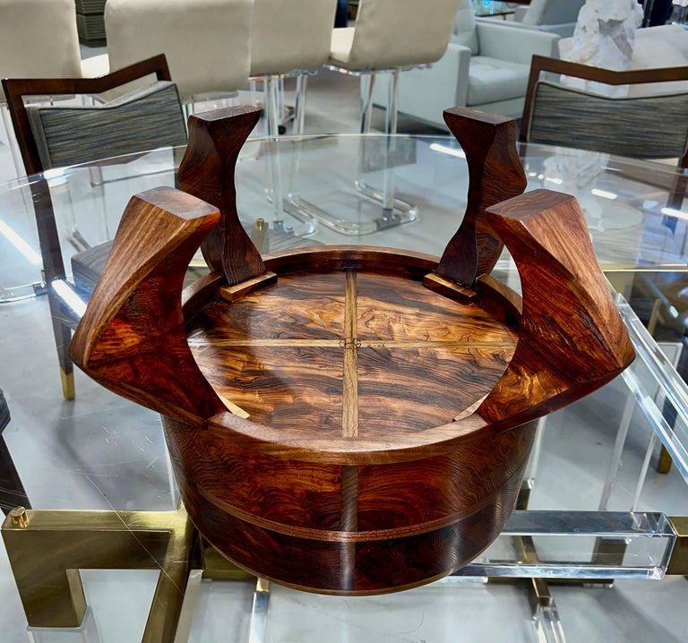 American Craft Walnut Bowl For Sale 5