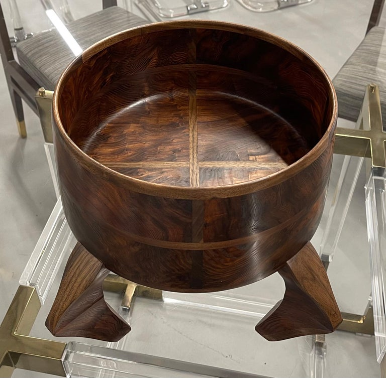 Hand-Crafted American Craft Walnut Bowl For Sale