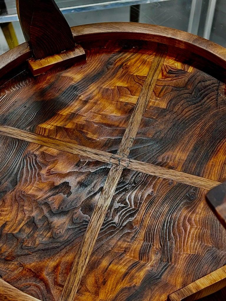 American Craft Walnut Bowl For Sale 3