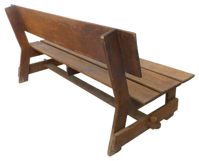 American Craftsman American Craft Wood Slat Bench For Sale