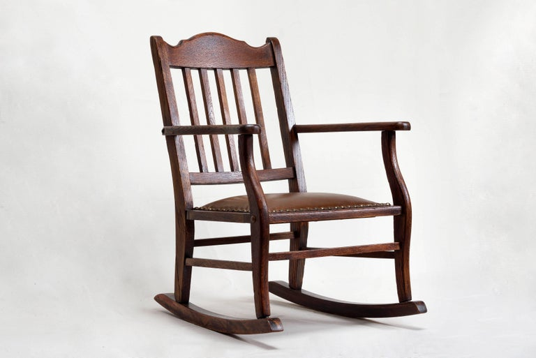 Awesome American Craftsman Childs Rocking Chair At 1Stdibs Lamtechconsult Wood Chair Design Ideas Lamtechconsultcom