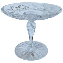 American Cut Crystal Footed Compote