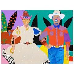 'American Dreamers' Portrait Painting by Alan Fears Pop Art