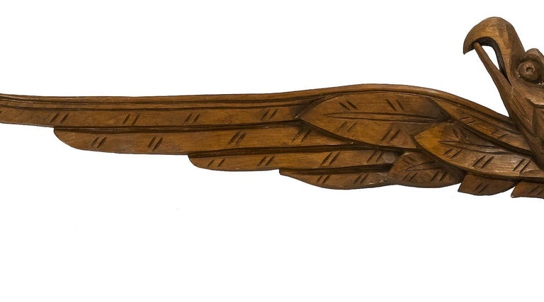 Beech Hand-Carved American Eagle, circa Early 20th Century For Sale