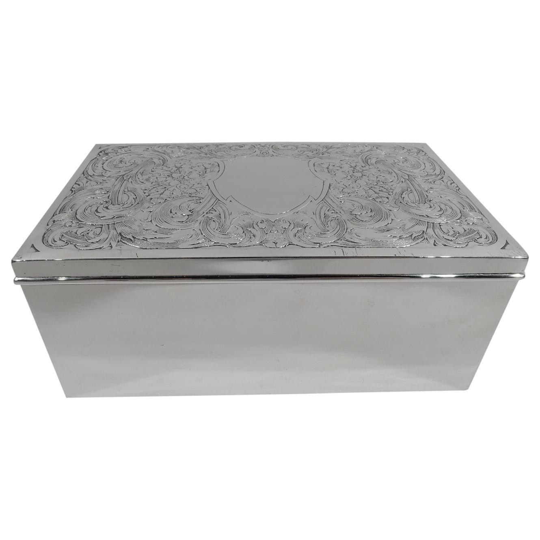 American Edwardian Art Nouveau Sterling Silver Box by Kerr