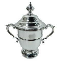 American Edwardian Classical Sterling Silver Covered Trophy Cup
