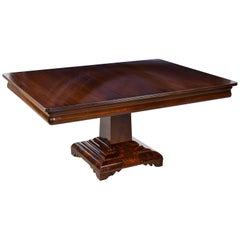 American Empire/Classical Dining Table in Mahogany w/ Grecian-Form Pedestal Base