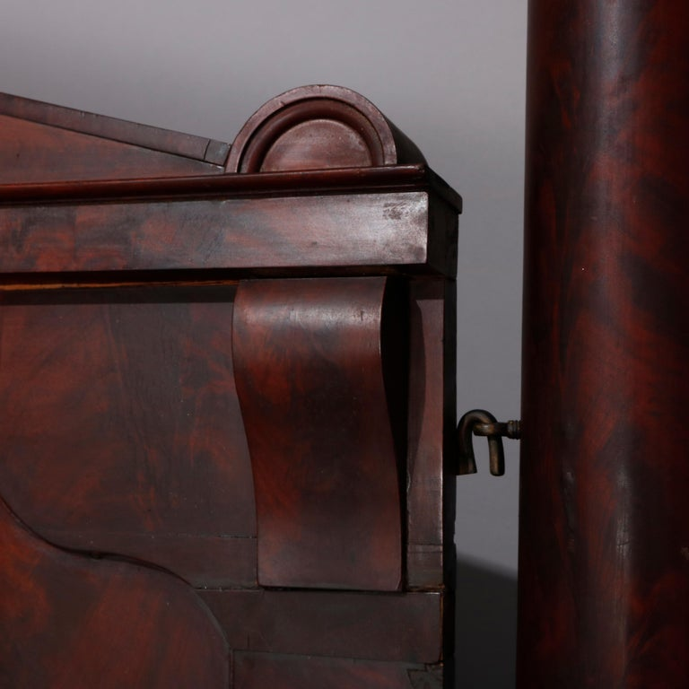 American Empire Flame Mahogany Quervelle School Tester Bed, circa 1840 For Sale 12
