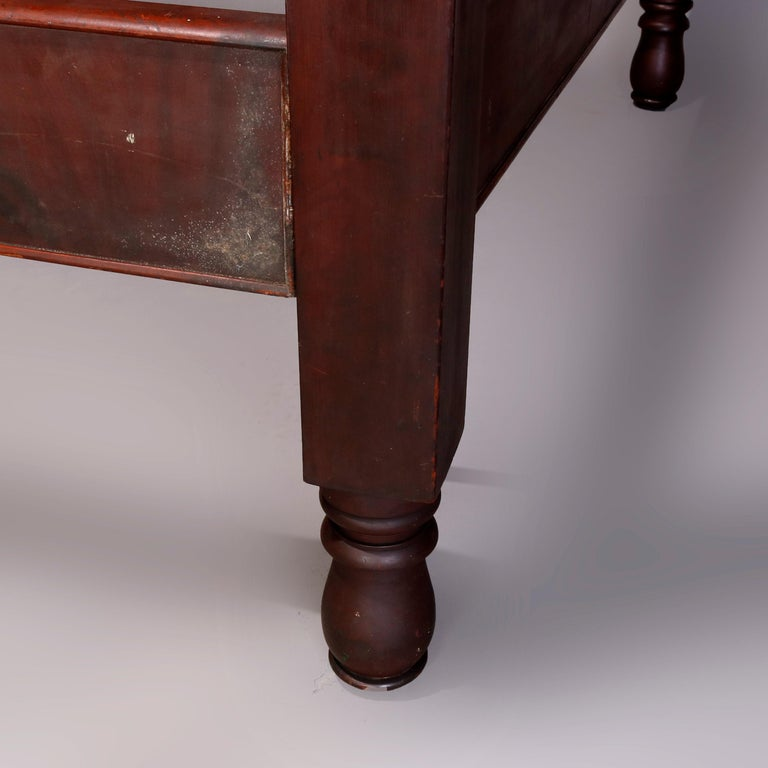 American Empire Flame Mahogany Quervelle School Tester Bed, circa 1840 For Sale 4
