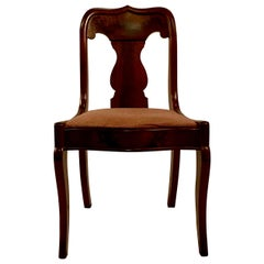 American Empire Mahogany Chair, circa 1860-1870