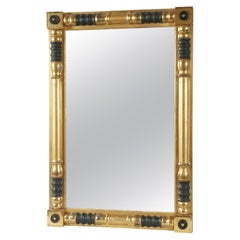 American Empire Period Gilt and Painted Wood Mirror