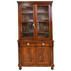 American Federal/ Classical Bookcase in Mahogany, circa 1800
