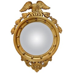 American Federal Gilt Convex Wall Mirror Eagle