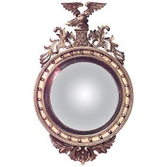 American Federal Gilt Convex Wall Mirror