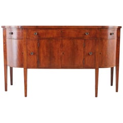 American Federal Mahogany Bow Front Sideboard