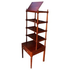 American Federal Mahogany Hinged Five-Tiered One-Drawer Étagère, Balt. C. 1810
