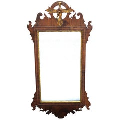 American Federal Mirror With Scrollwork and Carved Eagle
