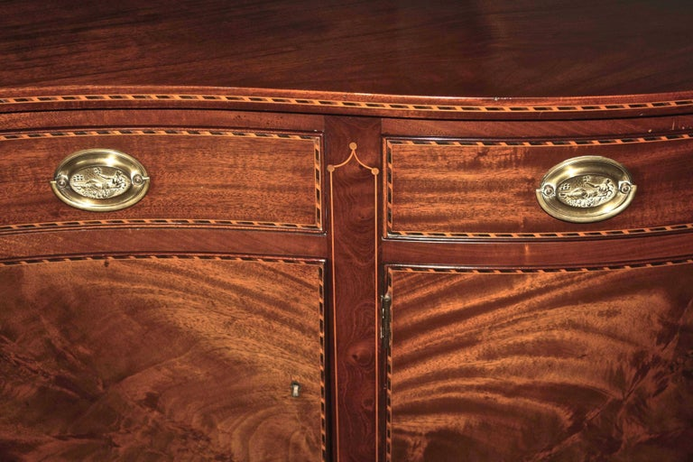 American Federal Revival Inlaid Mahogany Sideboard For Sale 5
