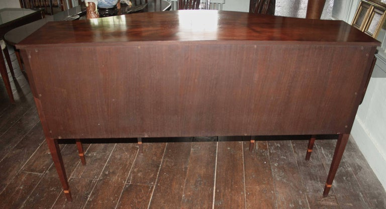 American Federal Revival Inlaid Mahogany Sideboard For Sale 7