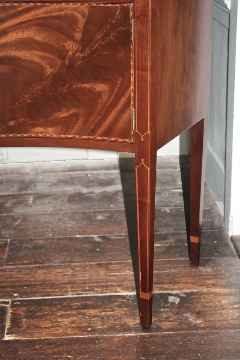 American Federal Revival Inlaid Mahogany Sideboard For Sale 4