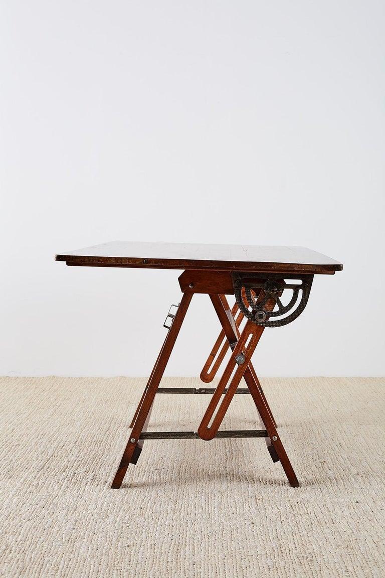Amerikanische Faltung Zeichentisch oder Schreibtisch 10