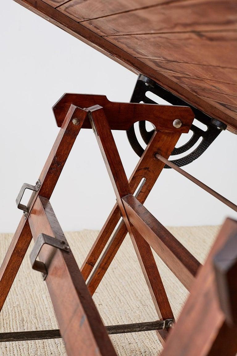 Amerikanische Faltung Zeichentisch oder Schreibtisch 14