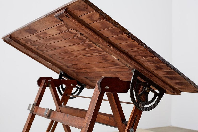 Amerikanische Faltung Zeichentisch oder Schreibtisch 15