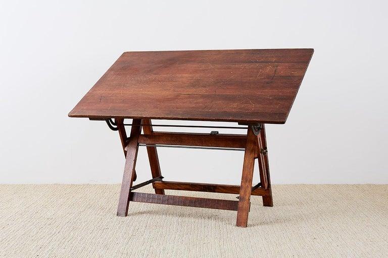 Amerikanische Faltung Zeichentisch oder Schreibtisch 3