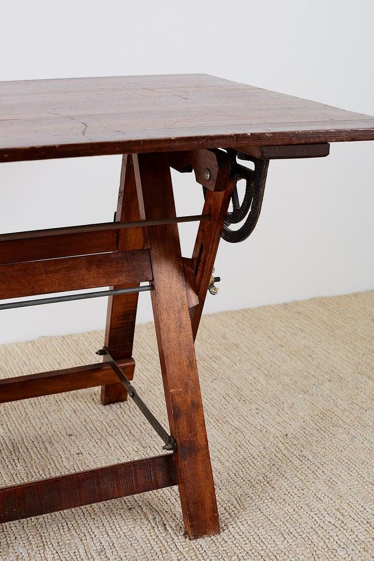 Amerikanische Faltung Zeichentisch oder Schreibtisch 7