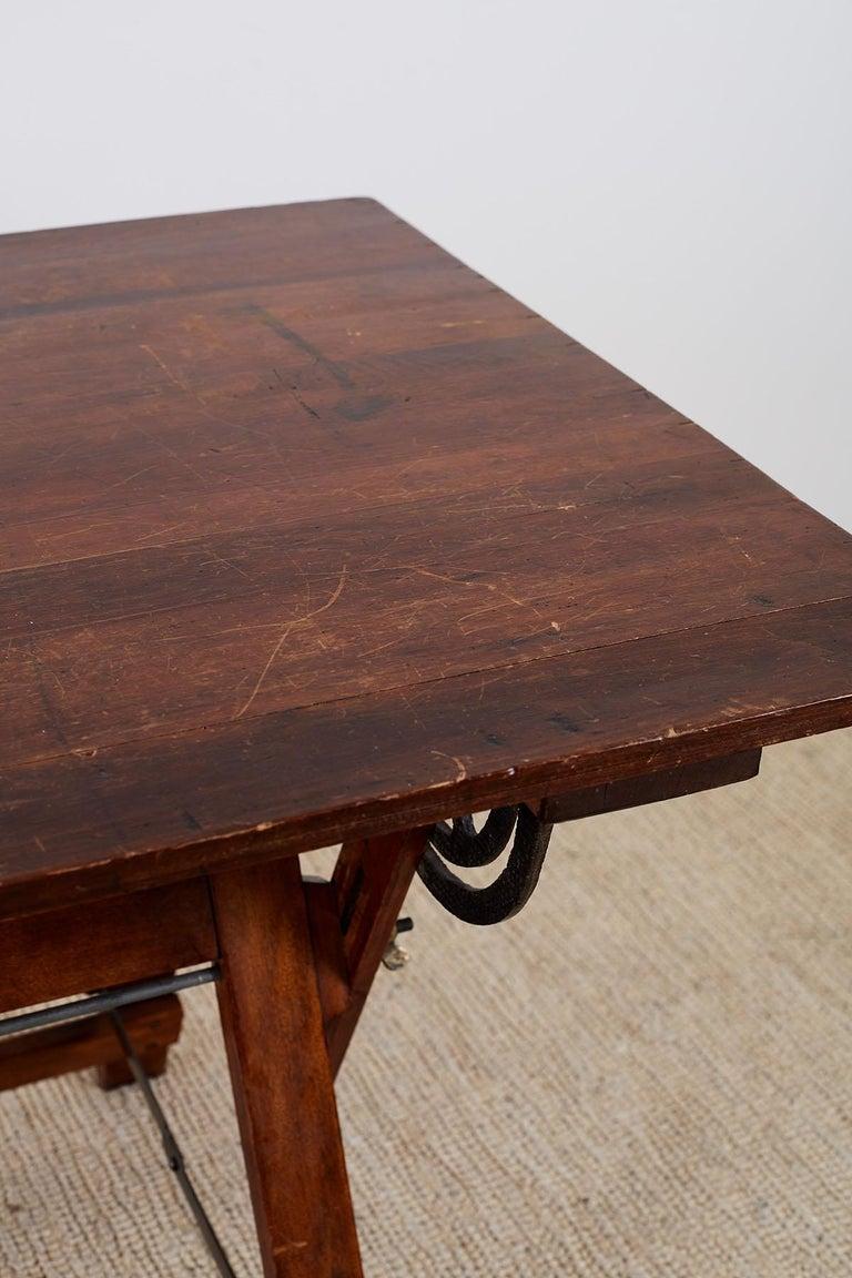 Amerikanische Faltung Zeichentisch oder Schreibtisch 9