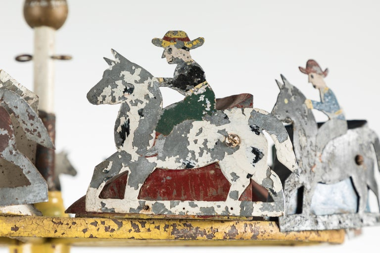 American Folk Art Cowboy and Horse Whirligig In Good Condition For Sale In Santa Monica, CA