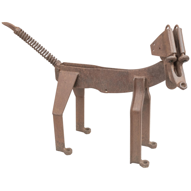 American Folk Art, Junk Metal Dog, Mid-20th Century