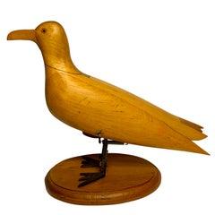 American Folk Art Mechanical Seagull Sculpture