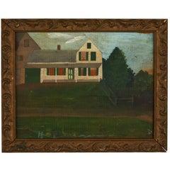 American Folk Art Oil on Wood