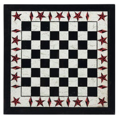American Folk Nautical Star Checkerboard