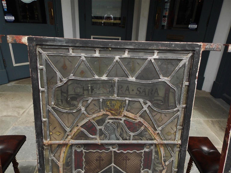 American Four Leaded Stained Glass Widows. Maurice Heaton, NY Early 20th Century For Sale 5