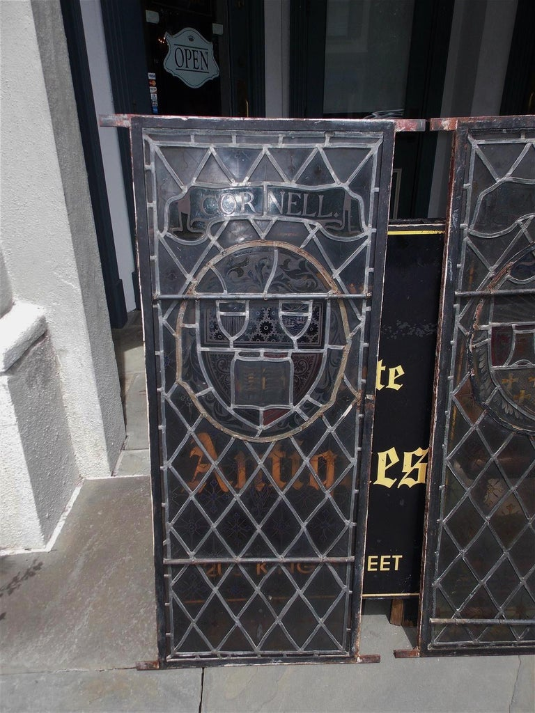 American Four Leaded Stained Glass Widows. Maurice Heaton, NY Early 20th Century For Sale 10