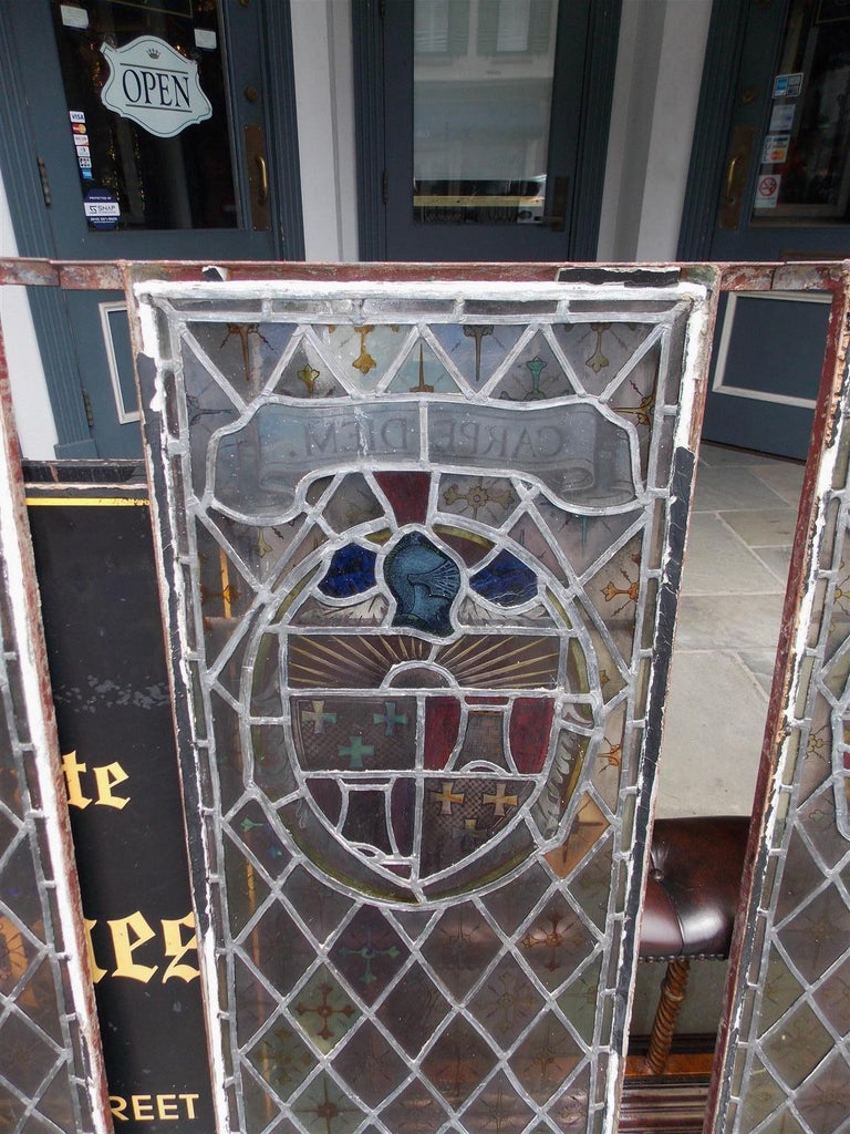 American Four Leaded Stained Glass Widows. Maurice Heaton, NY Early 20th Century For Sale 1