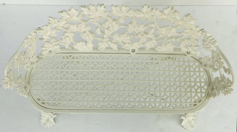 American Garden Bench of Cast Iron by Hart For Sale 2