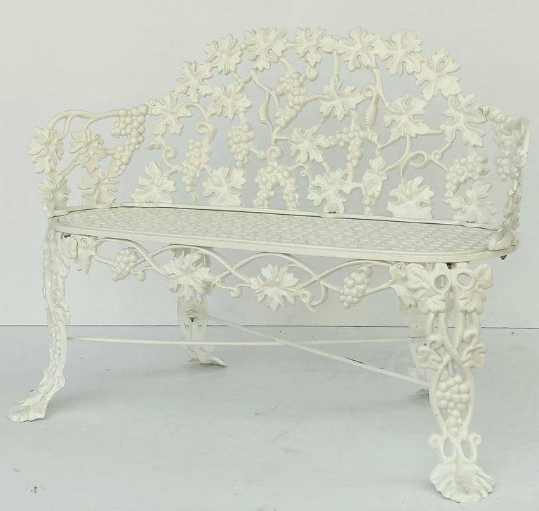 American Garden Bench of Cast Iron by Hart For Sale 3